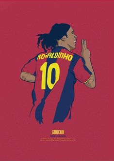 Ronaldinho w wersji rysunkowej FC Barcelona Brazil Football Team, Football 2018, Football Is Life, Retro Football, Football Art, World Football, Cr7 Messi, Lionel Messi, Neymar