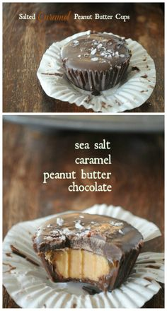 Homemade Salted Caramel Peanut Butter Cups.