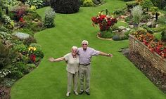 Green-fingered Stuart Grindle, 70, spends 30 hours a week pruning, weeding and trimming his stunning garden at his and wife Anne's home in Rotherham, Yorkshire.
