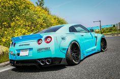 Visit The MACHINE Shop Café... ❤ Best of Nissan @ MACHINE ❤ (Liberty★Walk Sky Blue Nissan GT-R R35 ''Godzilla'' Supercar)