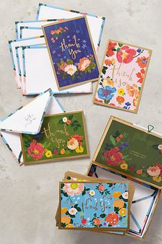 Fields Abloom Thank You Cards #anthropologie