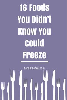 16 Foods You Didn't Know You Could Freeze with all the prep, storage, and use tips you need so you can stop wasting your food, money, and time! Freezer Cooking, Freezer Meals, Cooking Recipes, Freezable Meals, Make Ahead Meals, No Cook Meals, Sanha, Food Facts, Baking Tips