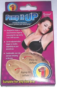 639b52ec65 Pump It Up Bra Pad Inserts Inflatable Increases Cup Size Adjustable Non  Slip NEW  breastenhancement. EBay ShoppingCool ...
