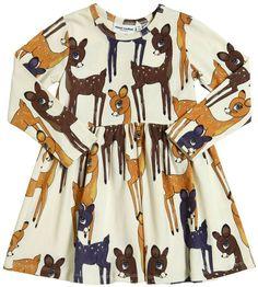 Fawn Print Organic Cotton Jersey Dress