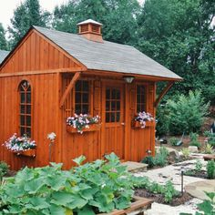 This garden shed is the ultimate solution for country-style lovers. Visit truenorthplans.com for more information. Building A Shed, Building Plans, 12x8 Shed, Glen Echo, Build Your Own Shed, Diy Shed Plans, Shed Kits, Wood Shed, Shed Storage