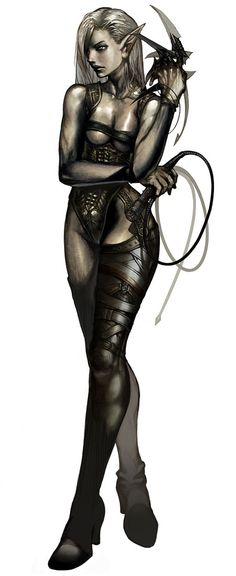 Dark Elf Female & Whip, Lineage II (I honestly don't know where this character is from, but it's absolutely awesome!)