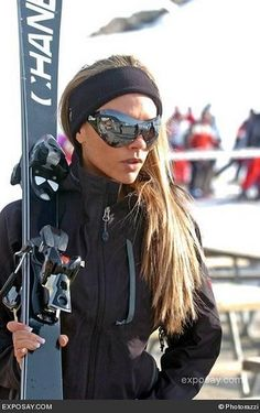 only victoria would have chanel skis and dior goggles!