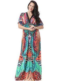 Bohemian Long Dress   plussize  bohemian  crafteastiq Short Sleeve Dresses ce576a92914e