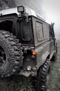 #LandRover #Defender on an #OffRoad #Adventure. #Explore #Challenge #Dirty #FourWheelDrive