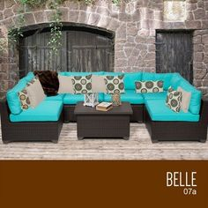 Backyard Makeover  TKC Belle 7 Piece Outdoor Wicker Patio Furniture Set *** This is an Amazon Associate's Pin. Click the VISIT button for detailed description on Amazon website.