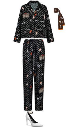 Dorit Kemsley's Cat Print Louis Vuitton Pajamas Teen Fashion Outfits, Girl Fashion, Casual Outfits, Runway Fashion, Fashion Trends, Louis Vuitton Pumps, Louis Vuitton Clothing, Louis Vuitton Dress, Cool Street Fashion