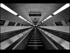 I miss the metro...   Endless journey in budapest metro by Kader Lagraa, via Flickr