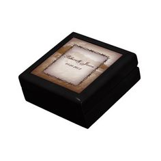 barbed wire western country wedding gift box