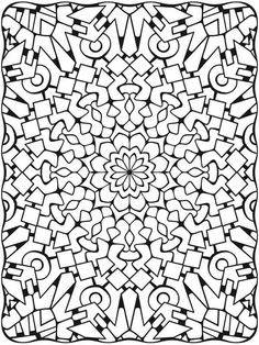 Dimensional design coloring page