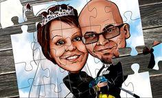 Kokoa ittes, kaveri!!! Uusi hauska lahjaidea - karikatyyri palapelit, nyt tilattavissa netistä: www.karikatyyrilahja.com/karikatyyri-palapelit.html