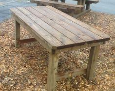 Rustic Garden Table