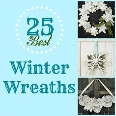 Looking for a way to keep your door pretty after the holidays?  Hang a pretty wreath, like one of these featured at Remodelaholic.