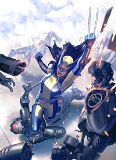 AWESOME NEW ART!...Wolverine X-23 Marvel  C.F. Villa - Artwork