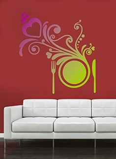 Wall Stickers Murals, Wall Decal Sticker, Easy Wall, Living Room Bedroom, Wall Colors, Lunch, Wall Art, Dinner, Interior Design