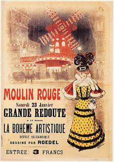 Affiche Moulin Rouge.