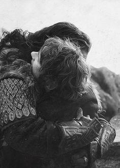 Thorin hugging Bilbo even if it isn't in the books...oh gosh. Die of cuteness.