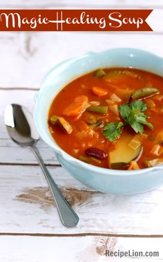 Magic Healing Soup - A great easy soup recipe for when you're fighting a cold, or simply want a nutritious meal that will make you feel better!