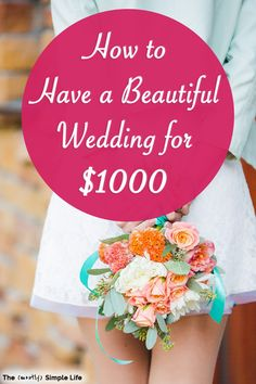 If you're planning a wedding on a budget, you're going to want to read these ideas! We got married for $1000 in a simple outdoor (beautiful) wedding! It was cheap, classy, and perfect. #wedding #weddingideas #weddingonabudget #onabudget #simplewedding #weddingday #weddingplanning Wedding Planning Tips, Budget Wedding, Dream Wedding, Wedding Day, Perfect Wedding, House Flipping Shows, Got Married, Getting Married, Sinking Funds