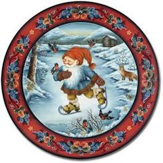 Norwegian Christmas Plates by Suzanne Toftey