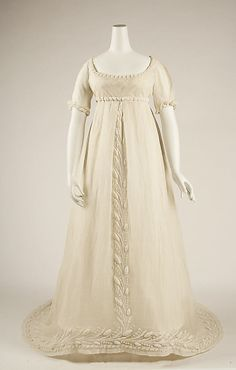 Dress 1804, French, Made of cotton