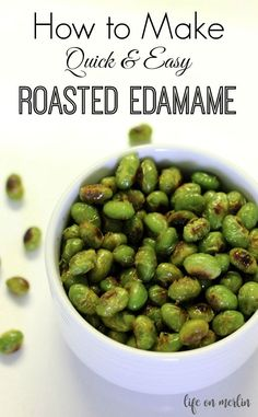 Roasted edamame are quick to make and delicious to eat. This easy snack is super delicious and quite addictive!