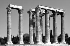 thereminsoul:  Κώστας Φ. Παπακωνσταντίνου, Ο Ναός του Ολυμπίου Διός Photo B, Architecture Old, Retro, Antiques, Ancient Greece, Greece, Places To Visit, Rome, Tatuajes