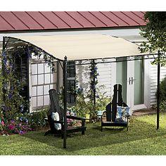 Gazebo Tent Pergola Canopy Canvas Garden Shelter