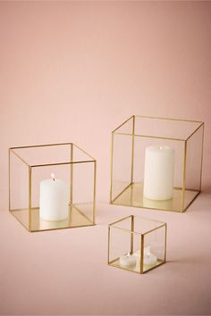 Gold Framed Boxes from @BHLDN. Candle holders for the bedroom. #UOonCampus  #UOContest
