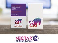Création / Impression cartes de visite et logo pour l'Écurie du Petit Cézarin. #cheval #logo #horse #design #graphisme #carte #nectarincommunication