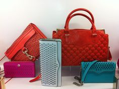 Spotted by our fashion editors: colorful laser cut bags / Rebecca Minkoff Resort