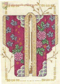 0 point de croix kimono japonais - cross stitch japanese kimono