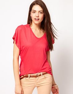 French Connection Capri Cotton Jersey Top