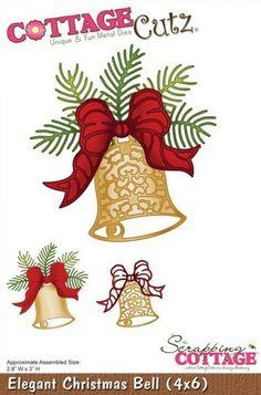 Cottage Cutz - 4x6 Die - Elegant Christmas Bell