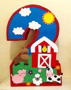 Piñata de numero granja. Piñata de granja. Piñata de por aldimyshop
