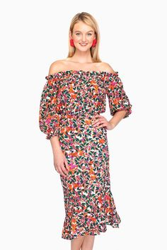 Lapsis Begonia Off-the-Shoulder Grace Dress