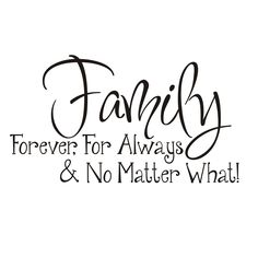 Vinyl Attraction 'Family; Forever, For Always & No Matter What' Vinyl Wall Art (Vinyl Wall Decal, Vinyl wall letters), Black