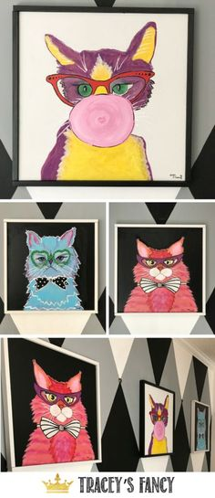 f3f0c49324ca Cat Artwork for the  crazycatlady by Tracey s Fancy