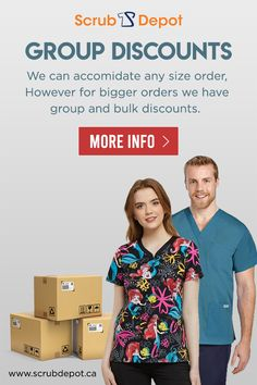 Looking for BULK DISCOUNTS on Medical scrubs uniforms? Scrub Depot can customize your wardrobe and will give you best discount. Cheap Scrubs, Scrubs Uniform, Medical Uniforms, Medical Scrubs, Scrub Tops, Stretch Pants, Hospitals, Vancouver, Women Wear