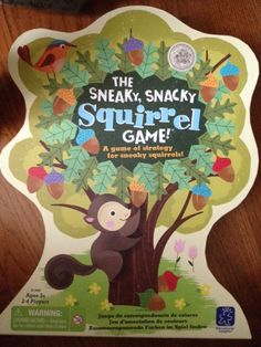 Six year old Leo reviews a wonderful family game: The Sneaky, Snacky Squirrel Game. This is a fun game that you can play with all of your children.