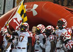 """I'll admit, I threw up a little in my mouth when I first saw Maryland's """"Maryland Pride"""" uniforms. However, kid's 12-20 love them, and that is really their target market whether it is recruits or prospective students. Furthermore, they really do embody the colors and patterns of Maryland's state flag. Most of us may not be caught dead in them, but if you ask most high schoolers I bet you they feel differently. University Of Maryland, Most High, Football Helmets, Notre Dame, Turtle, Pride, Target, Advertising, Students"""