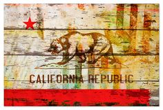 Nice print of the California Republic flag printed onto reclaimed wood. http://prolabdigital.com/products-services/fine-art-digital-prints/wood-prints.html