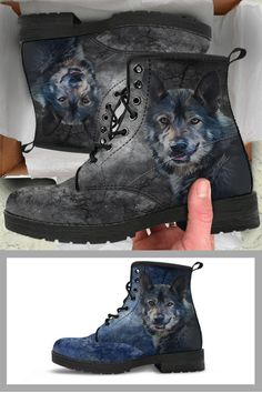 Check out our premium boots for wolf lovers!  More than 500 reviews available in our site.