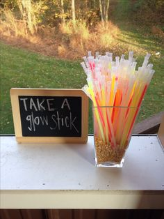 Glow sticks, perfect for fall parties after dark!