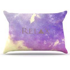 KESS InHouse Relax Pillowcase Size: Standard