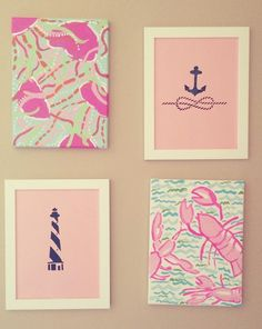 Painted Lilly Pulitzer inspired canvases